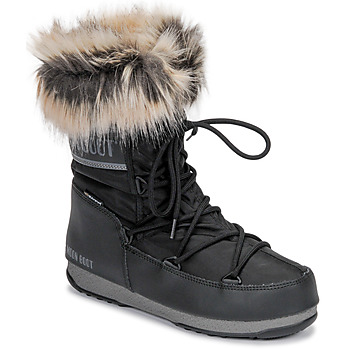 Zapatos Mujer Botas de nieve Moon Boot MOON BOOT MONACO LOW WP 2 Negro