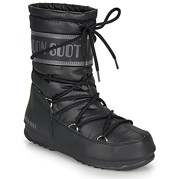 Zapatos Mujer Botas de nieve Moon Boot MOON BOOT MID NYLON WP Negro