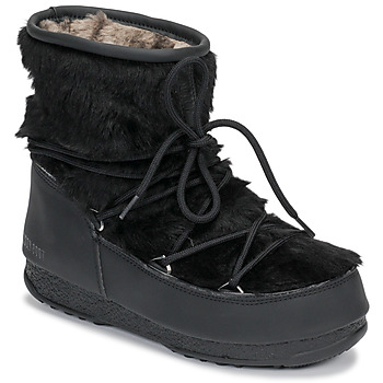 Zapatos Mujer Botas de nieve Moon Boot MOON BOOT MONACO LOW FUR WP Negro