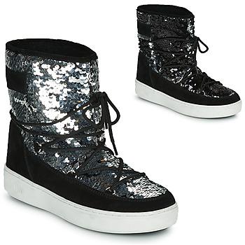 Zapatos Mujer Botas de nieve Moon Boot MOON BOOT PULSE MID DISCO Negro / Brillantina