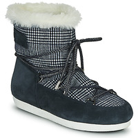 Zapatos Mujer Botas de nieve Moon Boot MOON BOOT FAR SIDE LOW FUR TARTAN Marino