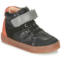 Zapatos Niño Zapatillas altas Babybotte KEN Negro / Naranja