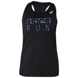 textil Mujer camisetas sin mangas Asics SILVER GRAPHIC TANK MID GRIS MUJER GRIS