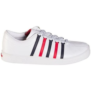 Zapatos Fitness / Training K-Swiss THE CLASSIC BLANCO AZUL ROJO 02248130 BLANCO