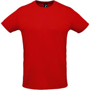 textil Hombre camisetas manga corta Sols SPRINT Rojo