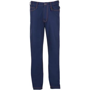 textil Hombre pantalones con 5 bolsillos Sols SPEED PRO Azul