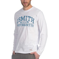 textil Hombre Camisetas manga larga John Smith CAMISETA LENI BLANCO 7732 012 Multicolor