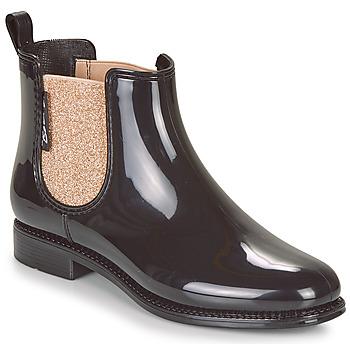 Zapatos Mujer Botas de agua Be Only NASHVILLE Negro / Dorado