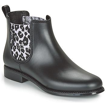 Zapatos Mujer Botas de agua Be Only DAKAR Negro / Leopardo