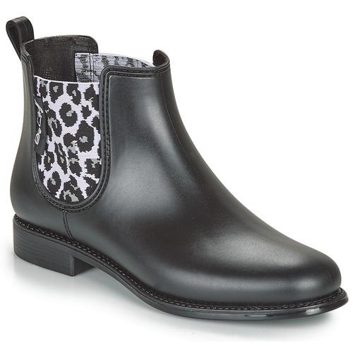 Be Only DAKAR Negro / Leopardo - Envío gratis   ! - Zapatos Botas de agua Mujer