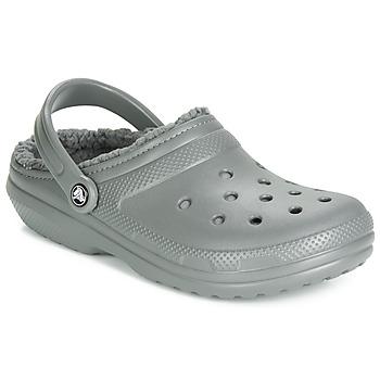 Zapatos Zuecos (Clogs) Crocs CLASSIC LINED CLOG Gris
