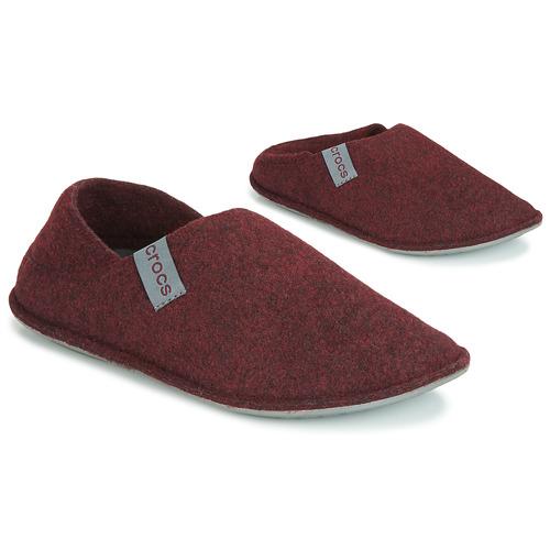 Crocs CLASSIC CONVERTIBLE SLIPPER Burdeo / Gris - Envío gratis | ! - Zapatos Pantuflas