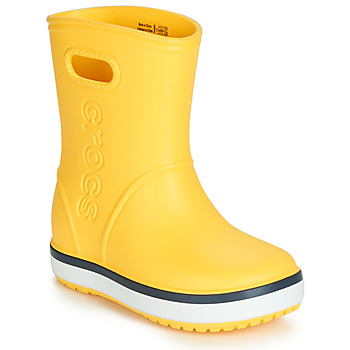 Zapatos Niños Botas de agua Crocs CROCBAND RAIN BOOT K Amarillo / Marino
