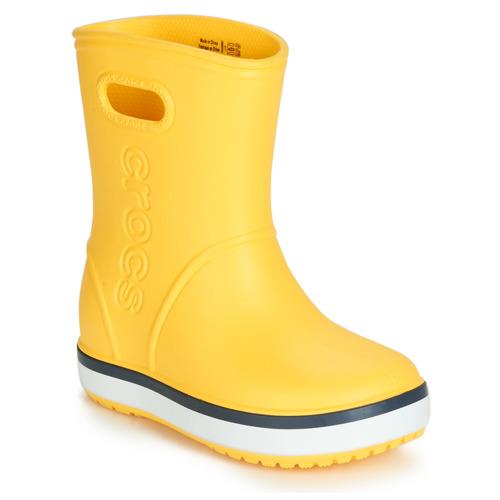 Crocs CROCBAND RAIN BOOT K Amarillo / Marino - Envío gratis | ! - Zapatos Botas de agua Nino