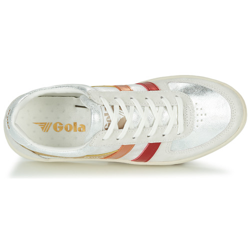 Zapatos Zapatillas Bajas Flare BeigePlateado Gola Grandslam Shimmer Mujer c5Rq34AjL