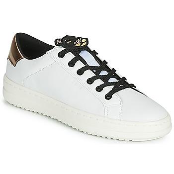 Zapatos Mujer Zapatillas bajas Geox D PONTOISE Blanco / Cobre