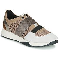 Zapatos Mujer Zapatillas bajas Geox D SUZZIE Topotea / Plateado