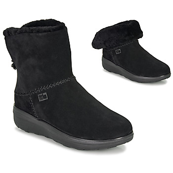 Zapatos Mujer Botas de caña baja FitFlop MUKLUK SHORTY III Negro