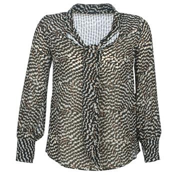 textil Mujer Tops / Blusas Ikks BP13065-02 Beige / Negro