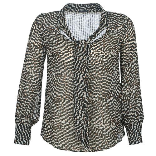 Ikks BP13065-02 Beige / Negro - Envío gratis | ! - textil blusas Mujer