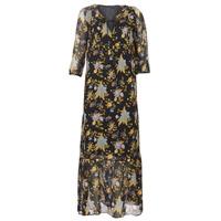 textil Mujer vestidos largos Ikks BP30195-02 Negro / Multicolor