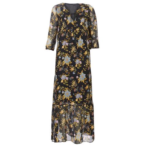 Ikks BP30195-02 Negro / Multicolor - Envío gratis | ! - textil vestidos largos Mujer