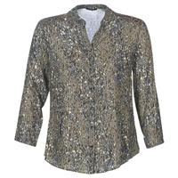 textil Mujer Tops / Blusas One Step CARLY CHEMISE Kaki / Multicolor