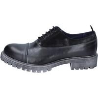 Zapatos Hombre Derbie & Richelieu Ossiani elegantes cuero gamuza negro