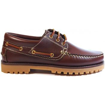 Zapatos Hombre Zapatos náuticos La Valenciana Zapatos  848 Burdeos Rojo