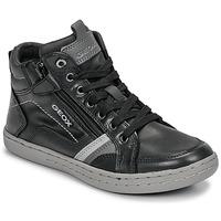 Zapatos Niño Zapatillas altas Geox JR GARCIA BOY Negro / Gris