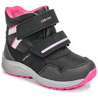 Zapatos Niña Botas de nieve Geox J KURAY GIRL B ABX Negro / Rosa
