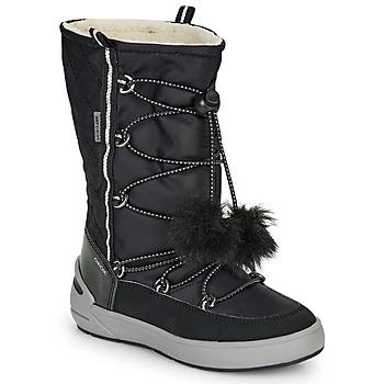 Zapatos Niña Botas de nieve Geox J SLEIGH GIRL B ABX Negro