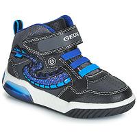 Zapatos Niño Zapatillas altas Geox J INEK BOY Negro / Azul