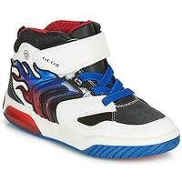 Zapatos Niño Zapatillas altas Geox J INEK BOY Blanco / Azul / Led