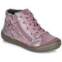 Zapatos Niña Botas de caña baja Geox J HADRIEL GIRL Morado