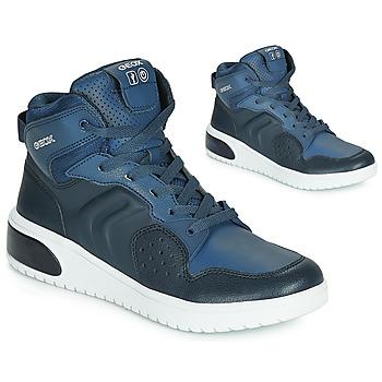 Zapatos Niño Zapatillas altas Geox J XLED BOY Azul / Led