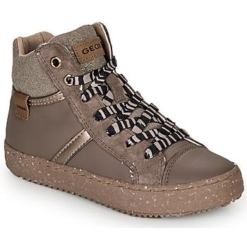 Zapatos Niña Zapatillas altas Geox J KALISPERA GIRL Gris