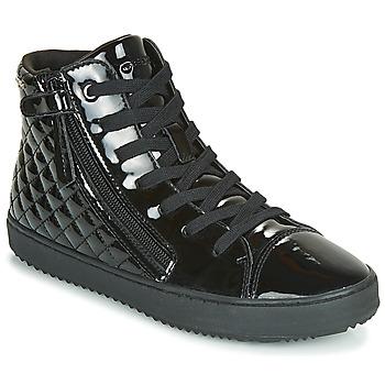 Zapatos Niña Zapatillas altas Geox J KALISPERA GIRL Negro