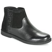 Zapatos Niña Botas de caña baja Geox J SHAWNTEL Negro