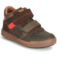 Zapatos Niño Zapatillas altas Geox J ARZACH BOY Marrón / Naranja