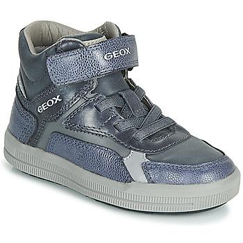 Zapatos Niño Zapatillas altas Geox J ARZACH BOY Azul / Gris