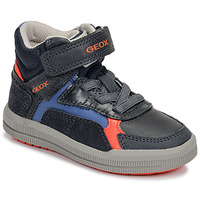 Zapatos Niño Zapatillas altas Geox J ARZACH BOY Azul / Naranja