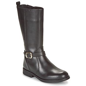 Zapatos Niña Botas urbanas Geox JR AGATA Negro