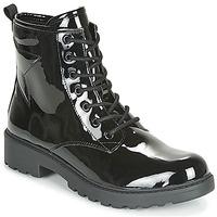 Zapatos Niña Botas de caña baja Geox J CASEY GIRL Negro
