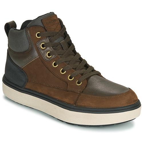 Zapatos Niño Zapatillas altas Geox J MATTIAS B BOY ABX Café / Negro