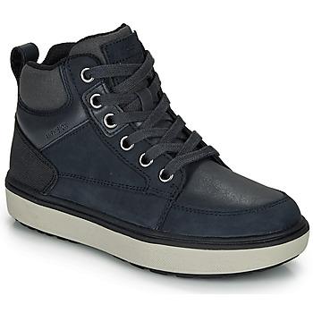 Zapatos Niño Zapatillas altas Geox J MATTIAS B BOY ABX Azul / Negro / Resistente al agua