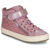 Zapatos Niña Zapatillas altas Geox J KALISPERA GIRL Rosa