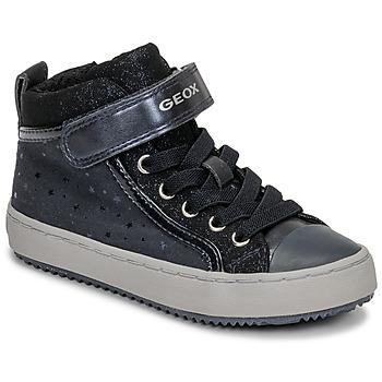 Zapatos Niña Zapatillas altas Geox J KALISPERA GIRL Azul