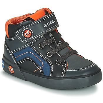 Zapatos Niño Zapatillas altas Geox B KILWI BOY Gris / Negro