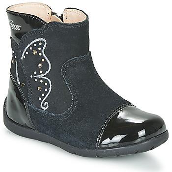 Zapatos Niña Botas urbanas Geox B KAYTAN Negro